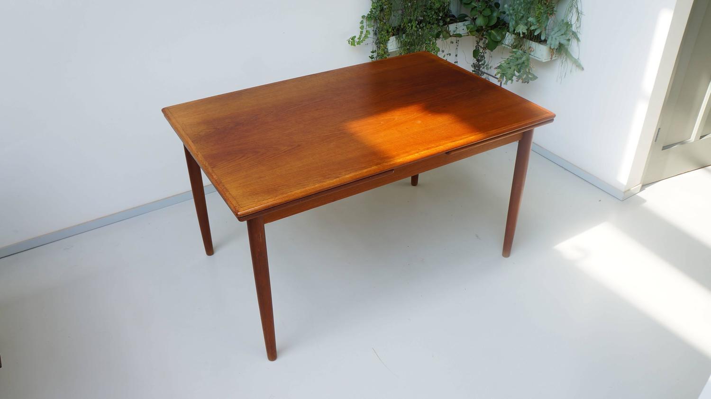 scandinavian danish modern 1950s rectangular teak wooden dining table