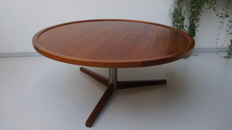 Round Teak Coffee Table Martin Visser 39 T Spectrum At 1stdibs