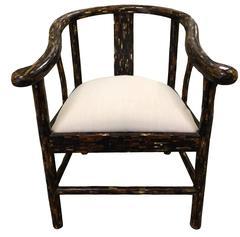 Enrique Garcel Tessellated Horn Horseshoe Chair