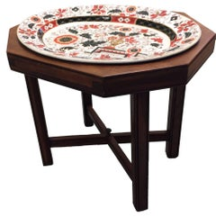 Antique Ashworth Imari Ironstone and Mahogany Tray Table
