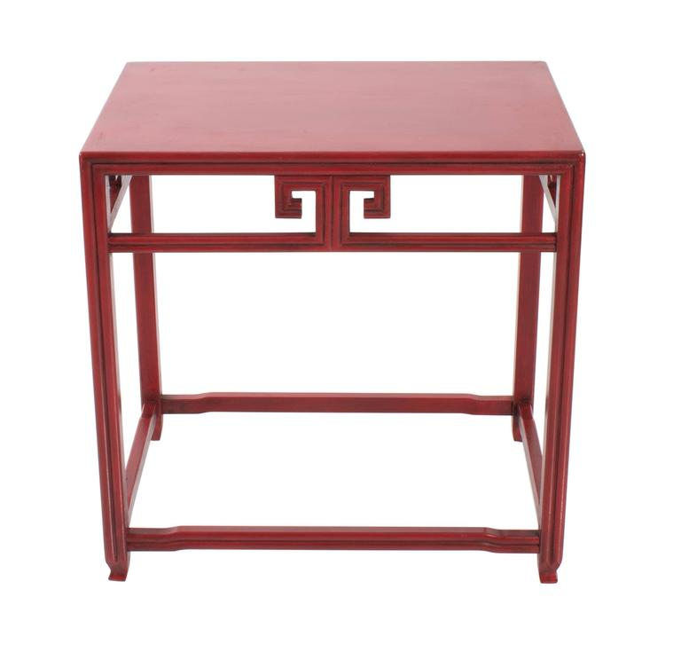 Michael Taylor For Baker Far East Red Side Tables, Pair 2