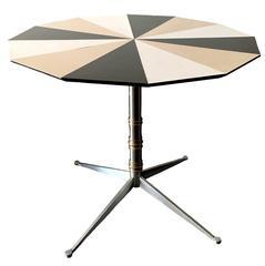 1950s Mid-Century Modern Geometric Dining Table