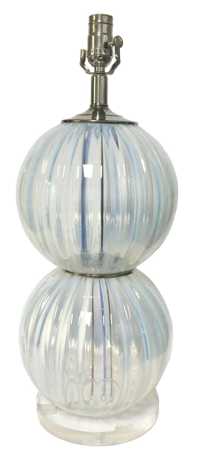 pair of opalescent murano glass lamps for sale at 1stdibs. Black Bedroom Furniture Sets. Home Design Ideas