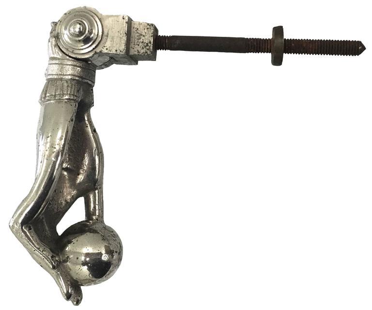 Victorian nickel hand door knocker 1880s at 1stdibs - Door knocker nickel ...