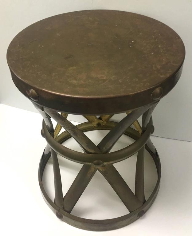 Chinese Brass X Base Drum Stool For Sale At 1stdibs