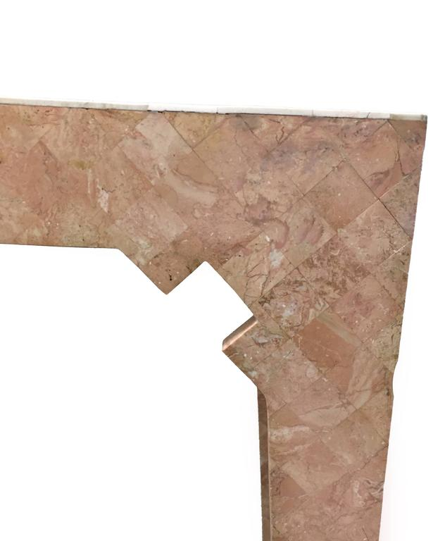 Maitland Smith Pink Tessellated Stone Console Table 2