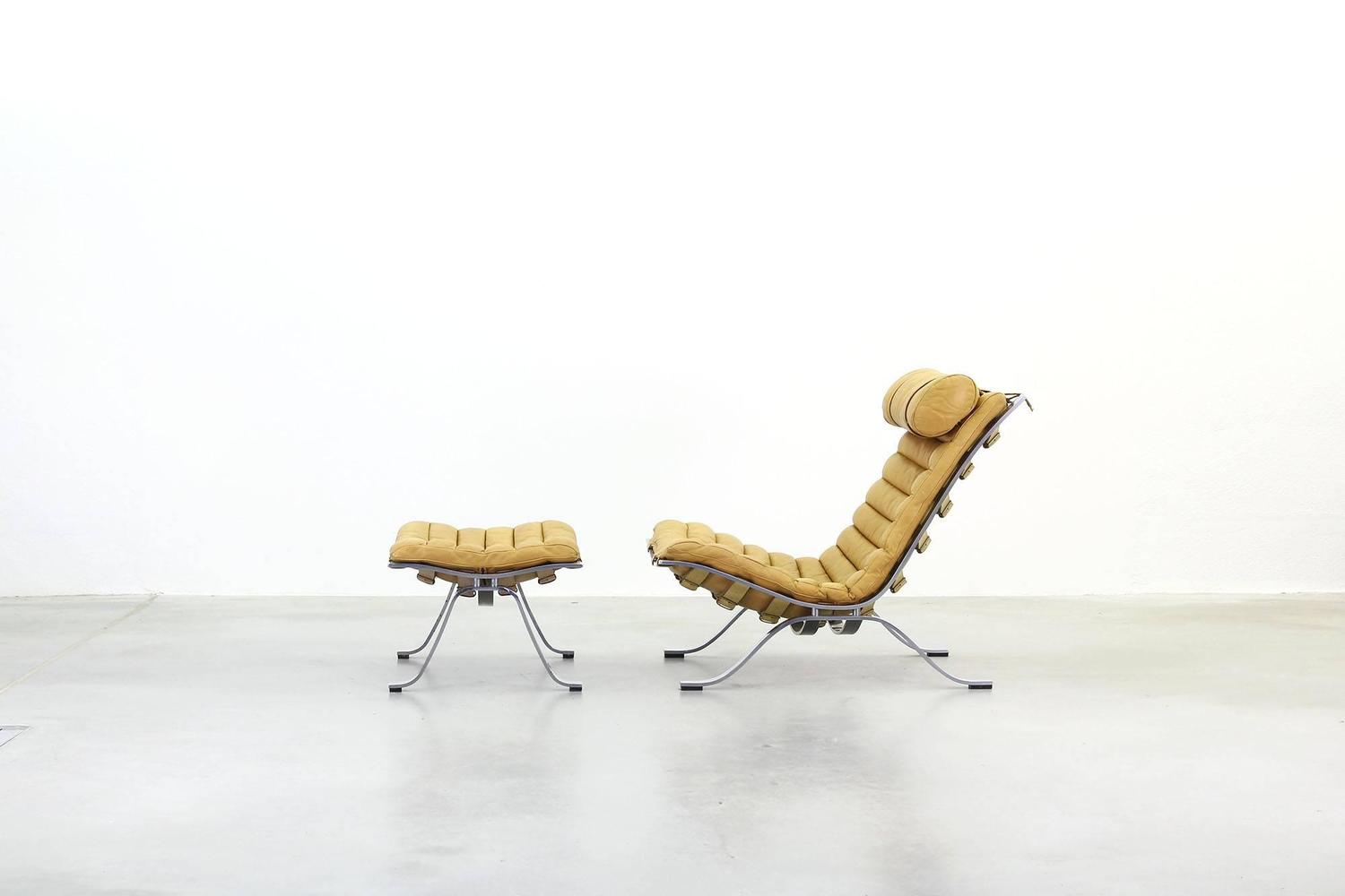 Lounge chair ari with ottoman by arne norell at 1stdibs for Lounge chair kopie