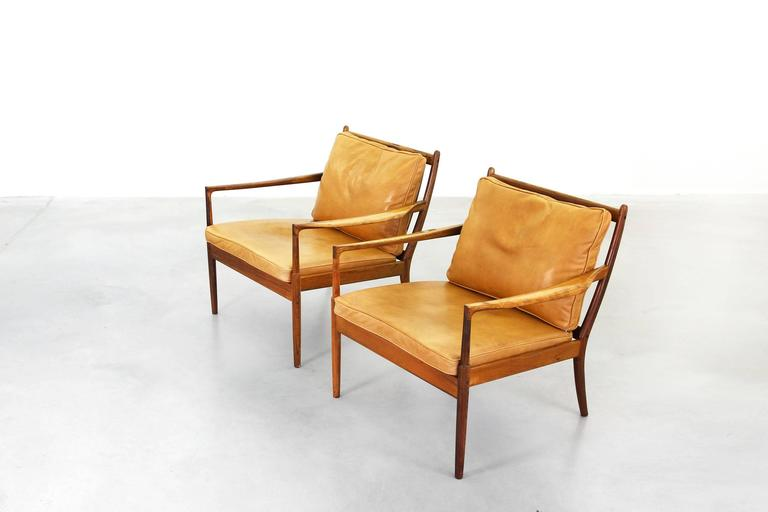 Pair of lounge chairs by ib kofod larsen for ope mod for Lounge chair kopie