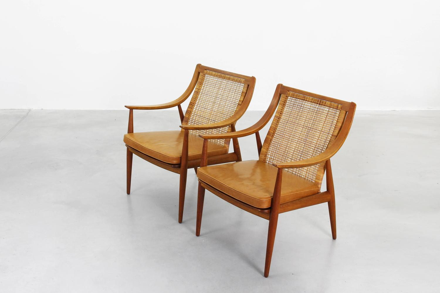Pair of lounge chairs by peter hvidt orla molgaard nielsen for Lounge chair kopie