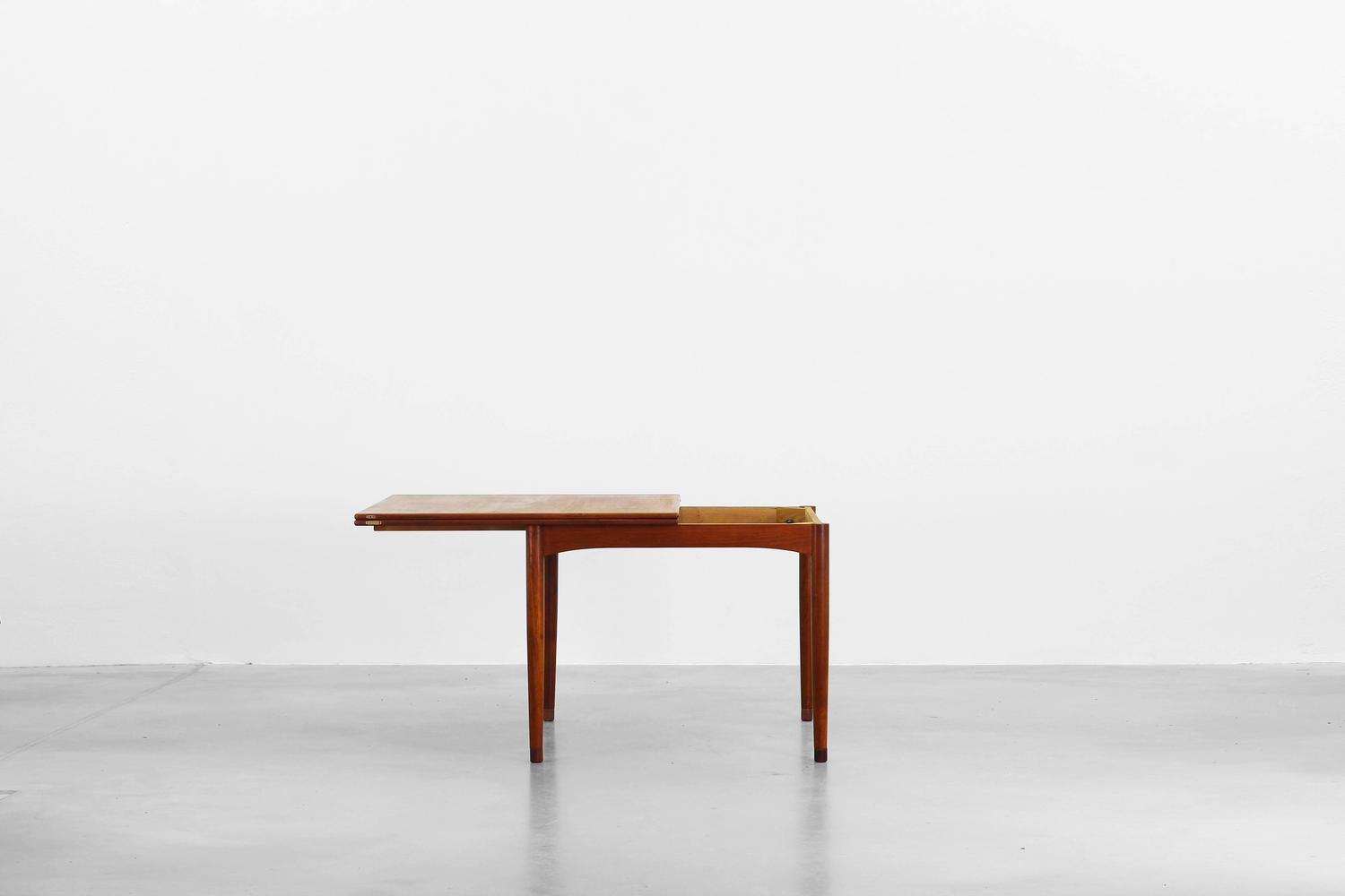 Rare Dining Expandable Table With Flip Top By Borge Mogensen For