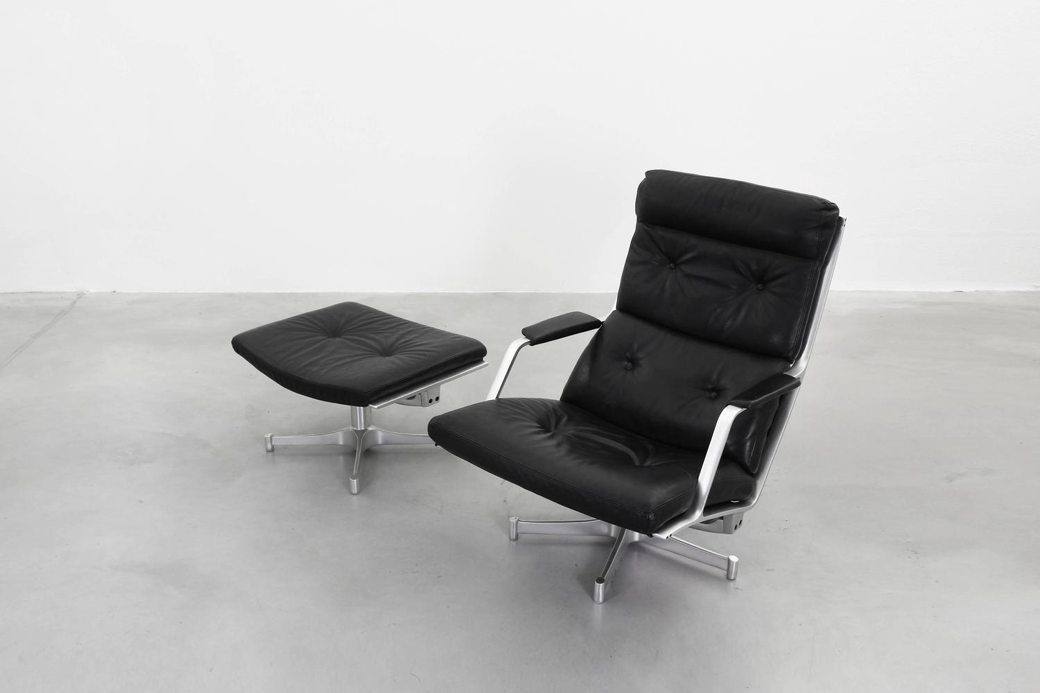 Lounge chair with ottoman by fabricius and kastholm for for Lounge chair kopie
