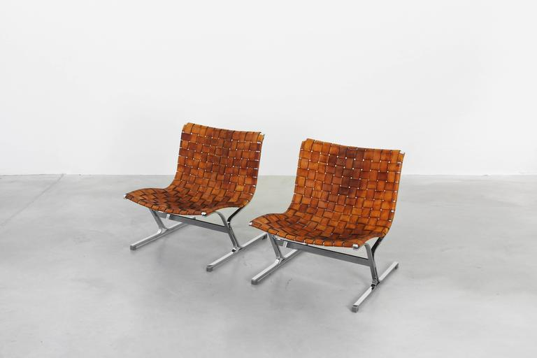 Pair of beautiful lounge chairs by ross littell for icf for Lounge chair kopie