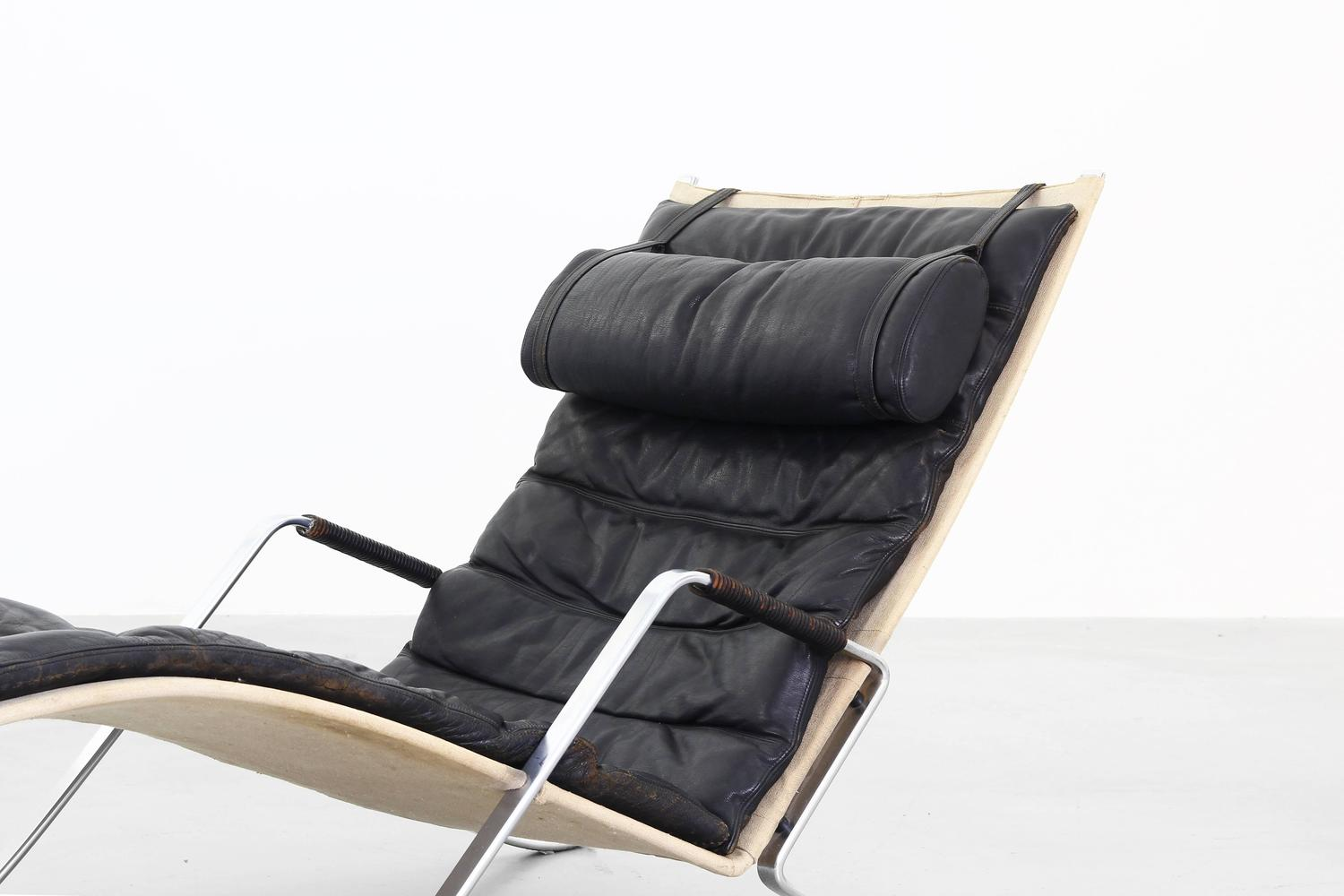 Original grasshopper chaise lounge by fabricius kastholm for Lounge chair kopie