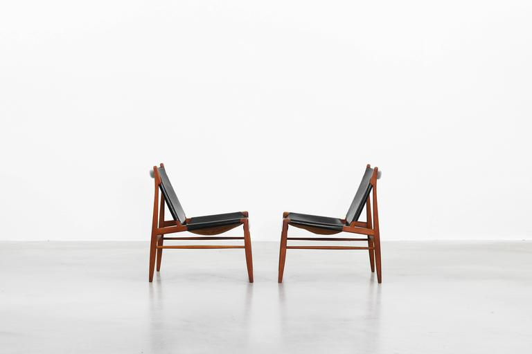 Lutz Möbel pair of lounge chairs by franz xaver lutz for wk möbel 1958 for sale at 1stdibs