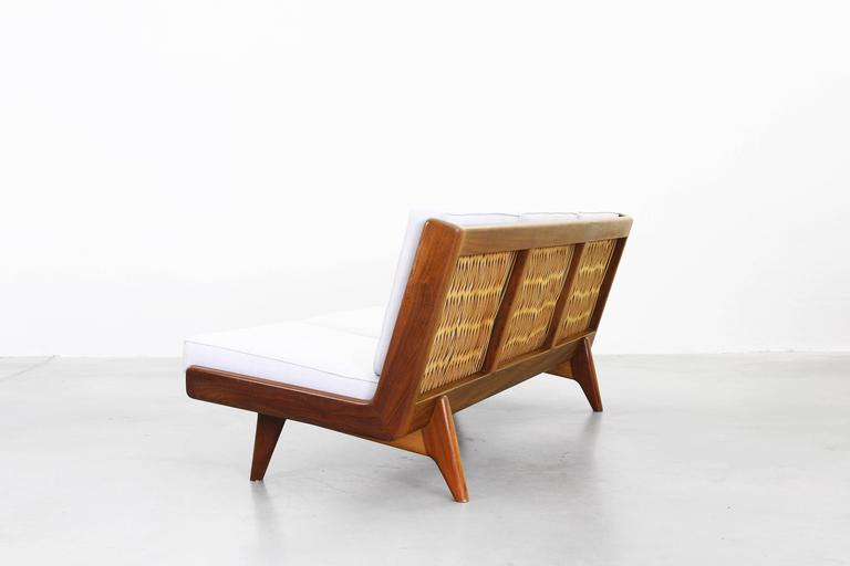 Walnut Beautiful Sofa by Carl Gustaf Hiort Af Ornäs, Sweden, 1950 For Sale