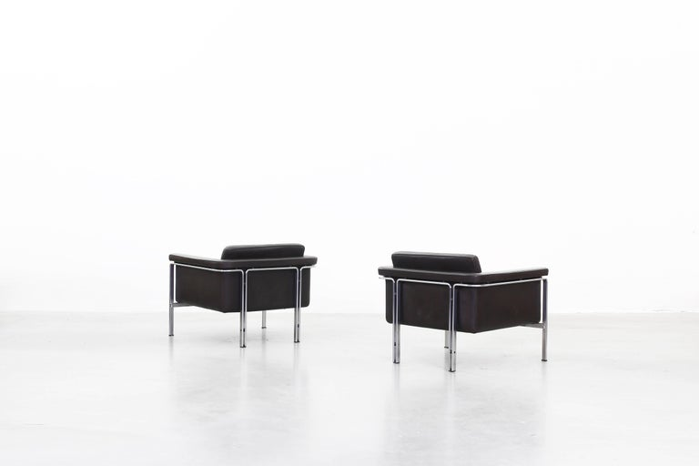 Beautiful Pair of Lounge Chairs by Horst Bruning for Alfred Kill International In Good Condition For Sale In Berlin, DE