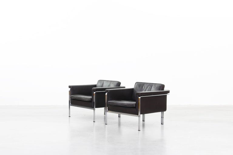 20th Century Beautiful Pair of Lounge Chairs by Horst Bruning for Alfred Kill International For Sale