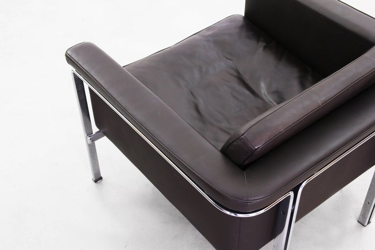 Beautiful Pair of Lounge Chairs by Horst Bruning for Alfred Kill International For Sale 2