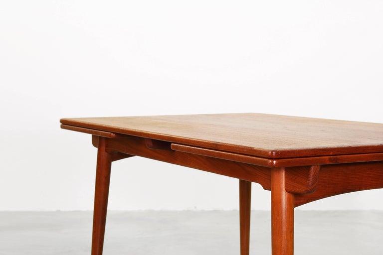 Teak Dining Table by Hans J. Wegner for Andreas Tuck Denmark AT 312, Denmark, 1950s For Sale