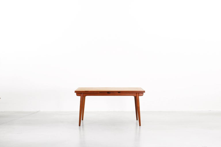 Danish Dining Table by Hans J. Wegner for Andreas Tuck Denmark AT 312, Denmark, 1950s For Sale