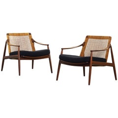 Beautiful Pair of Lounge Easy Chairs by Hartmut Lohmeyer for Wilkhahn 'b'