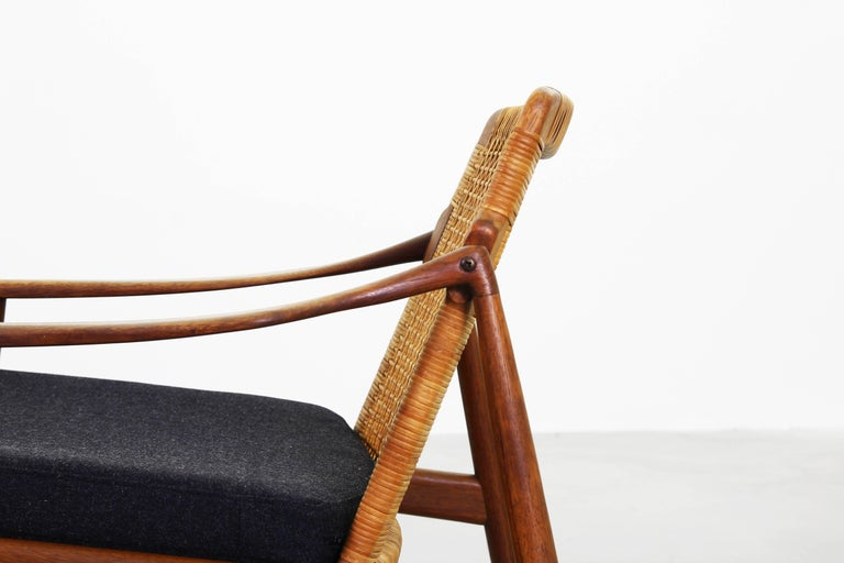 Teak Beautiful Pair of Lounge Easy Chairs by Hartmut Lohmeyer for Wilkhahn 'b' For Sale