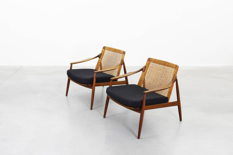 Beautiful Pair of Lounge Easy Chairs by Hartmut Lohmeyer for Wilkhahn 'b' For Sale 4