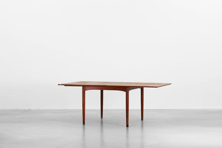 Rare Dining Expandable Table With Flip Top By Borge Mogensen For Soborg  Mobelfabrik. Very
