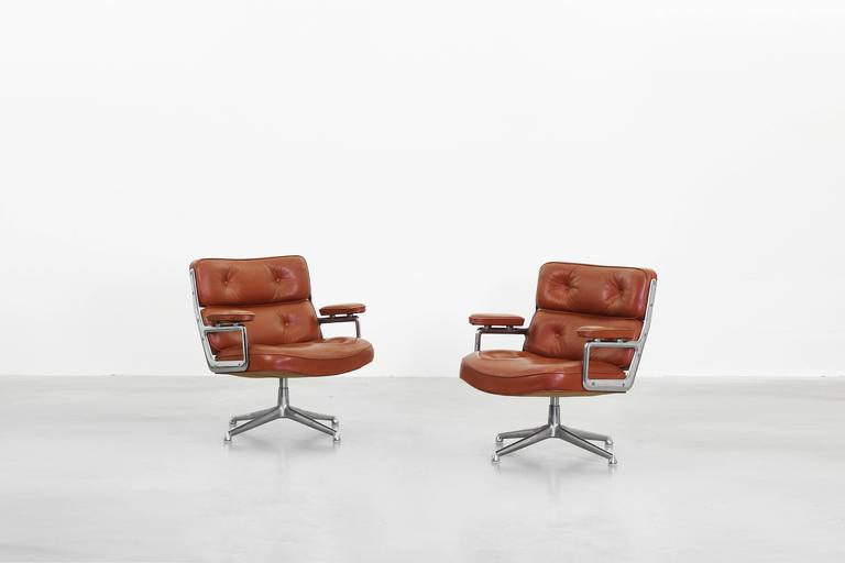 A Beautiful Pair Of Lobby Chairs, Mod. 675 , ES 105 Also Known As