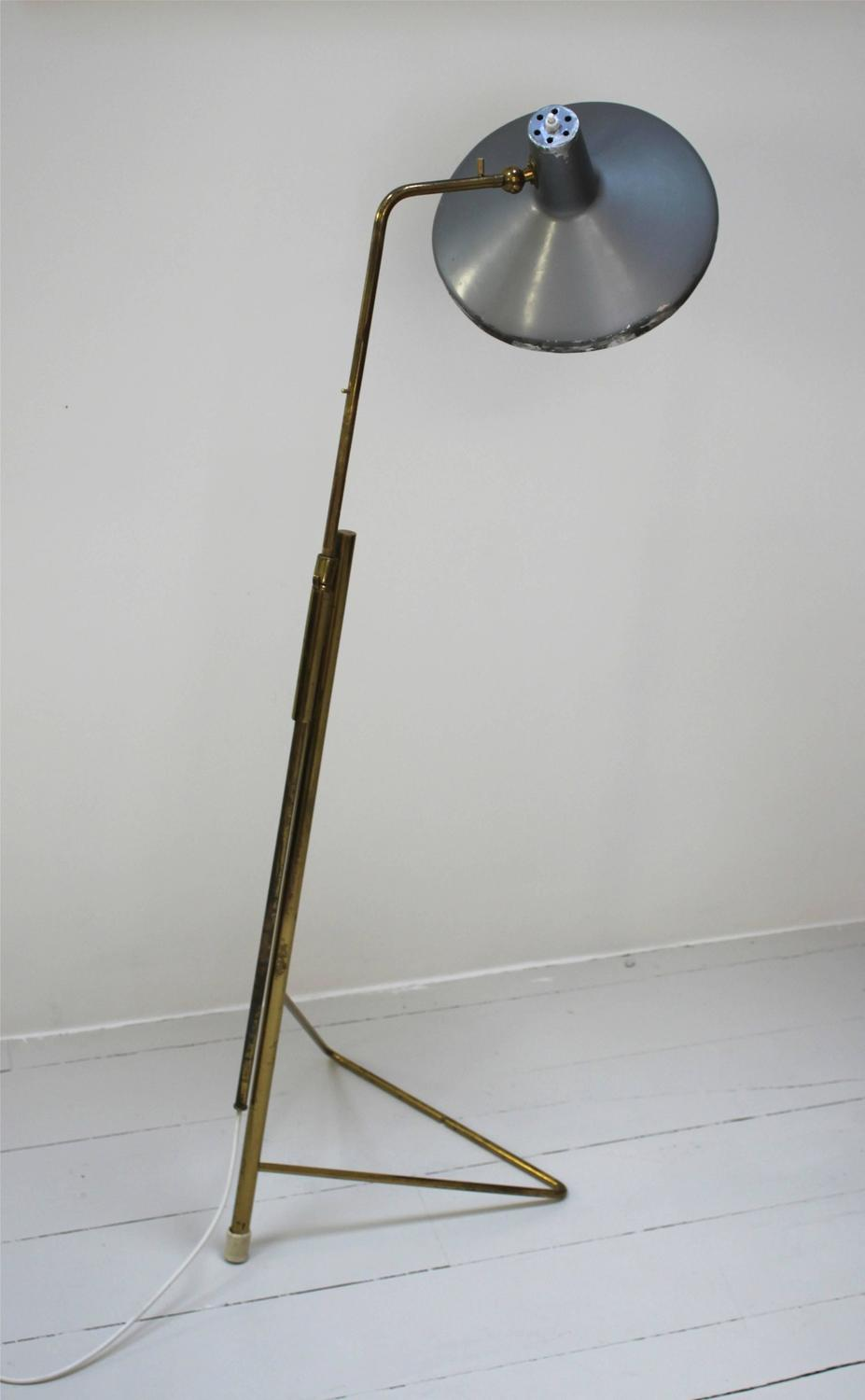 Wall Lamp Height From Floor : Rare Floor or Wall Lamp by Gino Sarfatti for Arteluce at 1stdibs