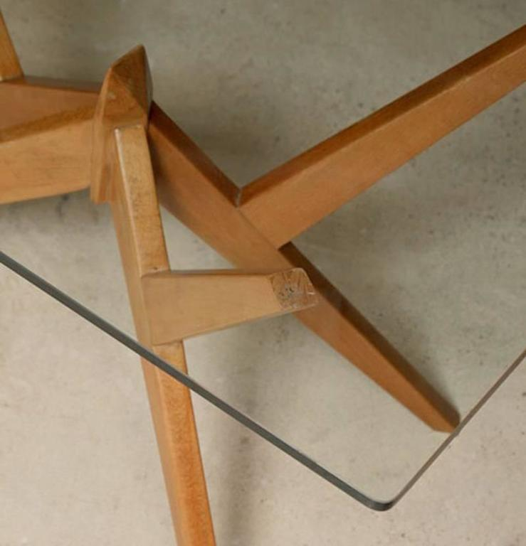 Mid-Century Modern Occasional Table in the Style of Mollino, Italian, 1950s For Sale