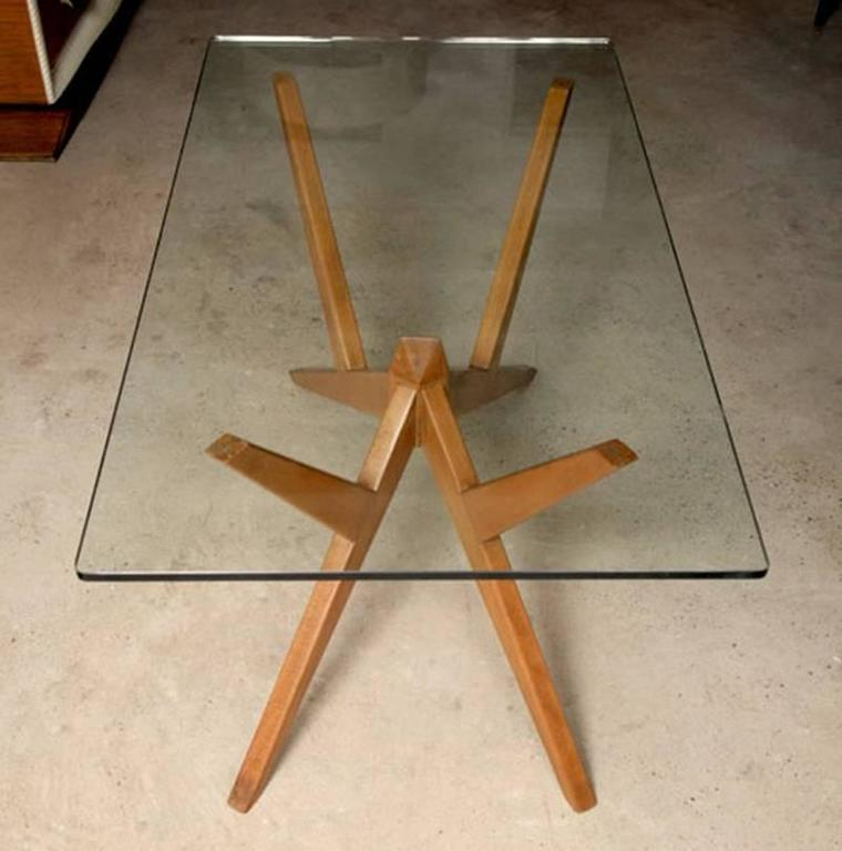 Glass Occasional Table in the Style of Mollino, Italian, 1950s For Sale