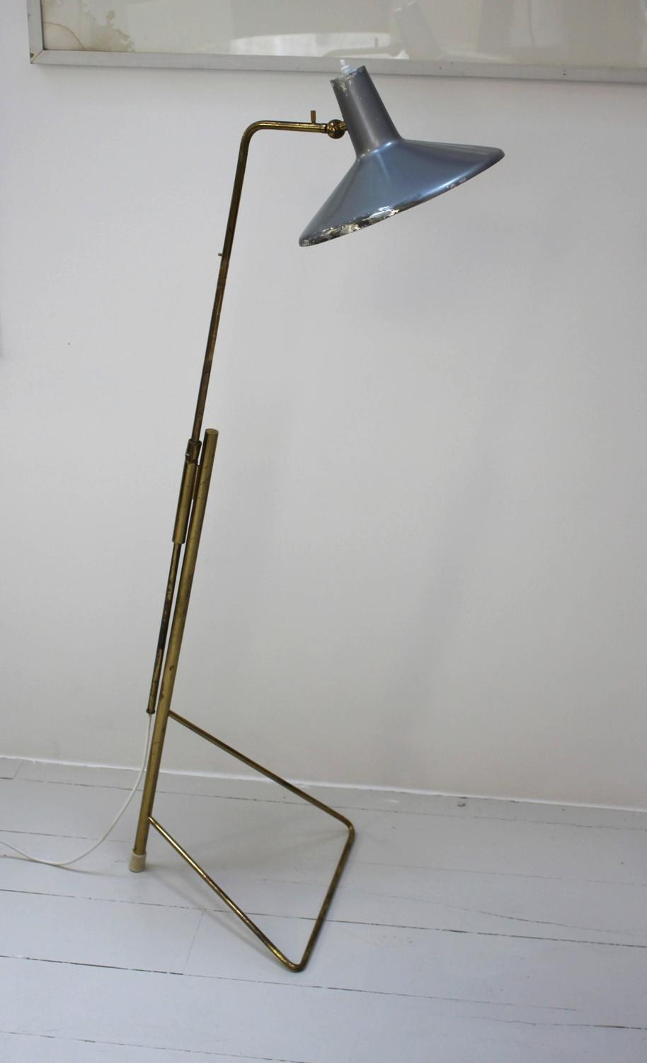 Wall Hugger Floor Lamp : Rare Floor or Wall Lamp by Gino Sarfatti for Arteluce at 1stdibs