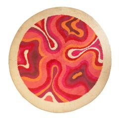 1970s Space Age Circular Wool Rug