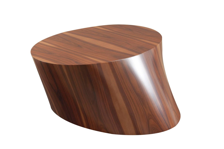 Contemporary wood veneered organic modern coffee table at - Organic wood coffee table ...