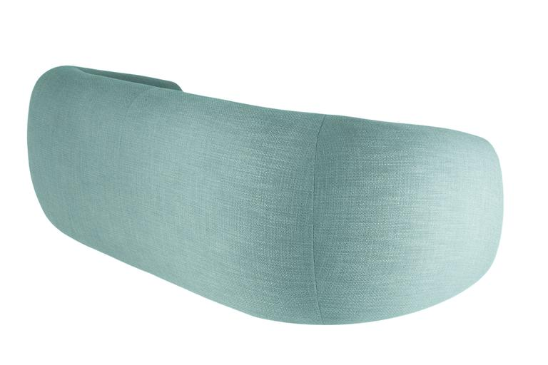 Curved Minimalist teal green Lounge from France 4