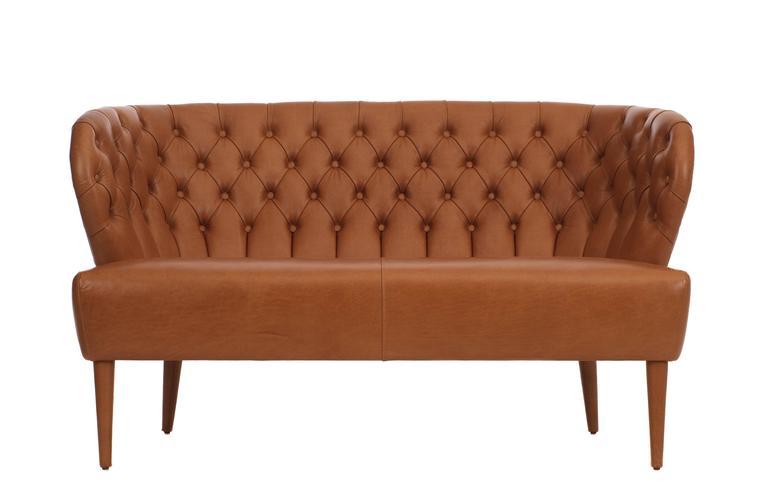Modern Italian three seater Chesterfield Style Leather