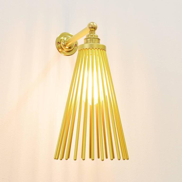 Wall Lights Europe : Pair of European Modern Aluminium Brass Wall Light Sconces For Sale at 1stdibs