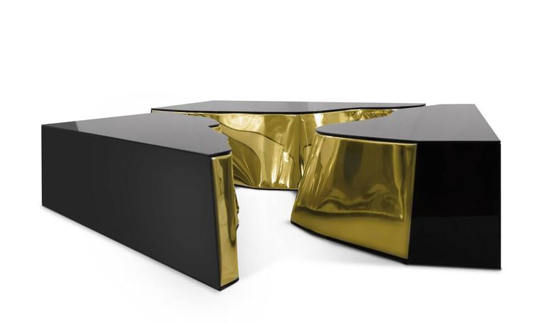 Modern European Mirrored and Brass Lapiaz Coffee Table by Boco Do Lobo 7