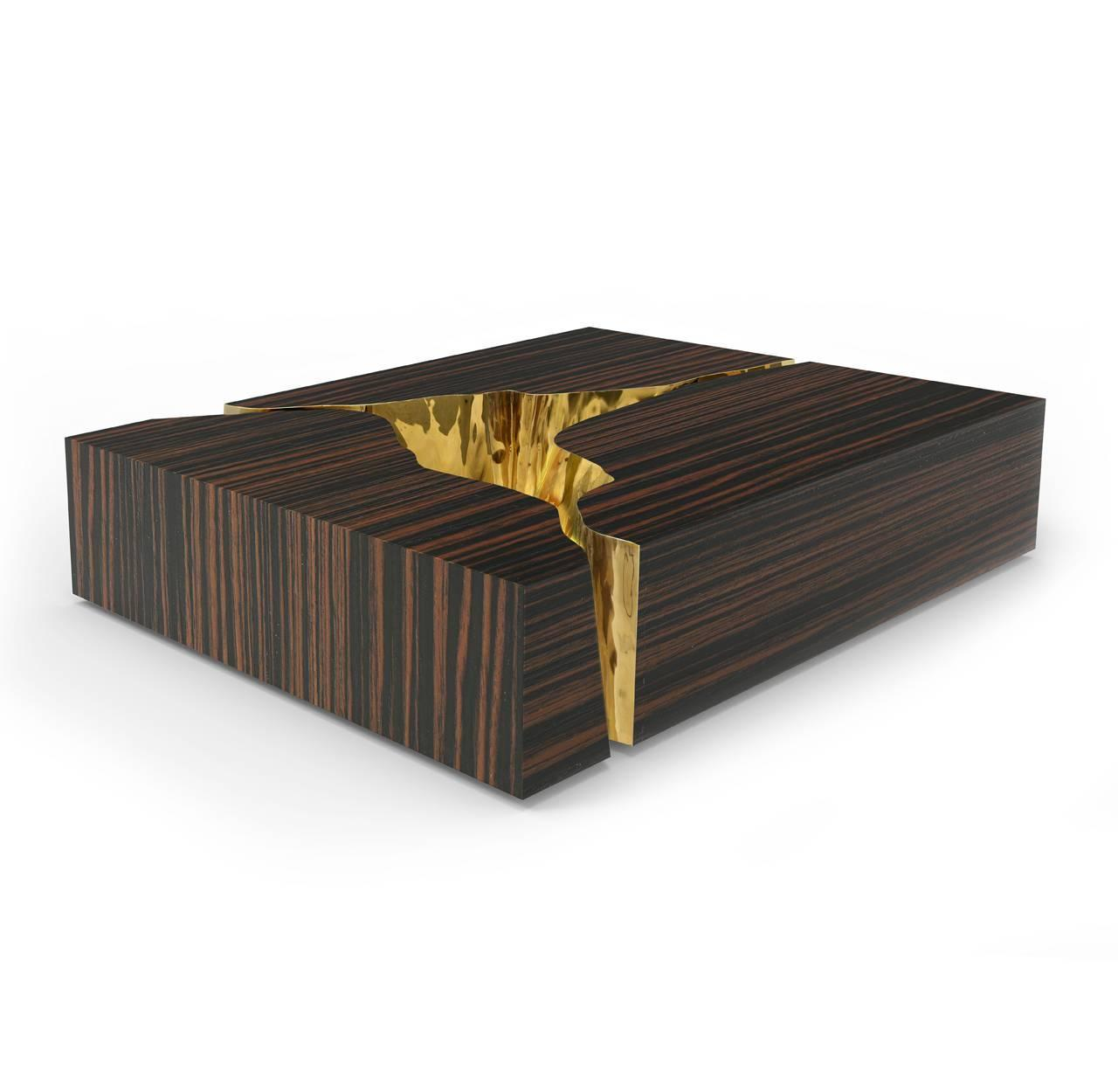 Modern European Mirrored And Brass Lapiaz Coffee Table By Boco Do Lobo At 1stdibs