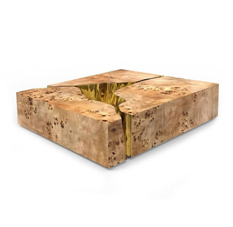 Modern European Mirrored and Brass Lapiaz Coffee Table by Boco Do Lobo 9