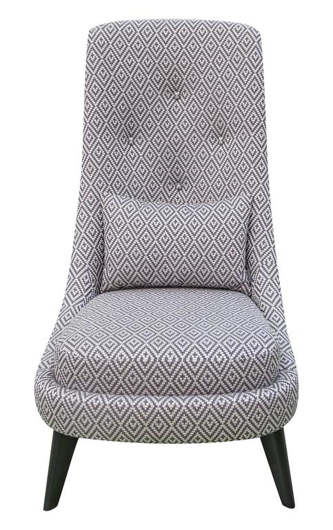 contemporary black grey and white geometric pattern armchair from france for sale at 1stdibs. Black Bedroom Furniture Sets. Home Design Ideas