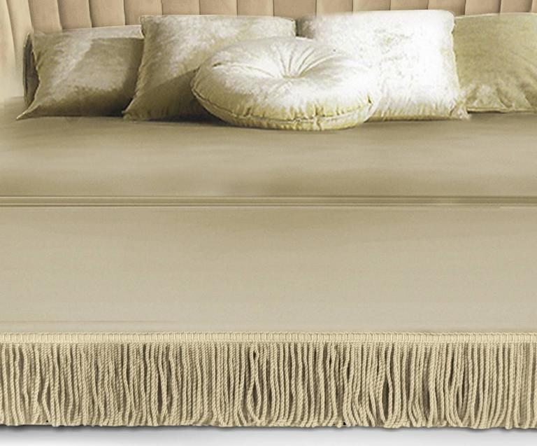 European modern upholstered fringed seviliana king queen for European beds for sale
