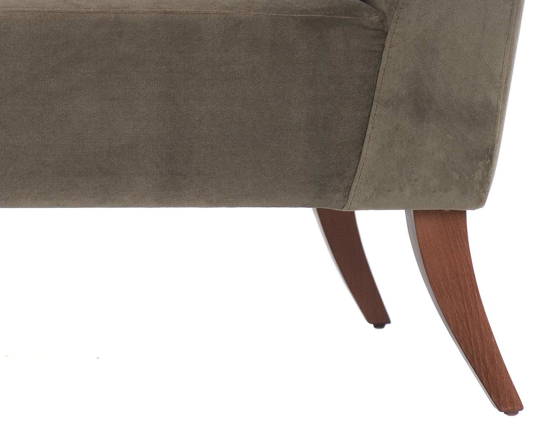 Italian modern grey velvet and ash classic chaise longue for Chaise longue classic design italia
