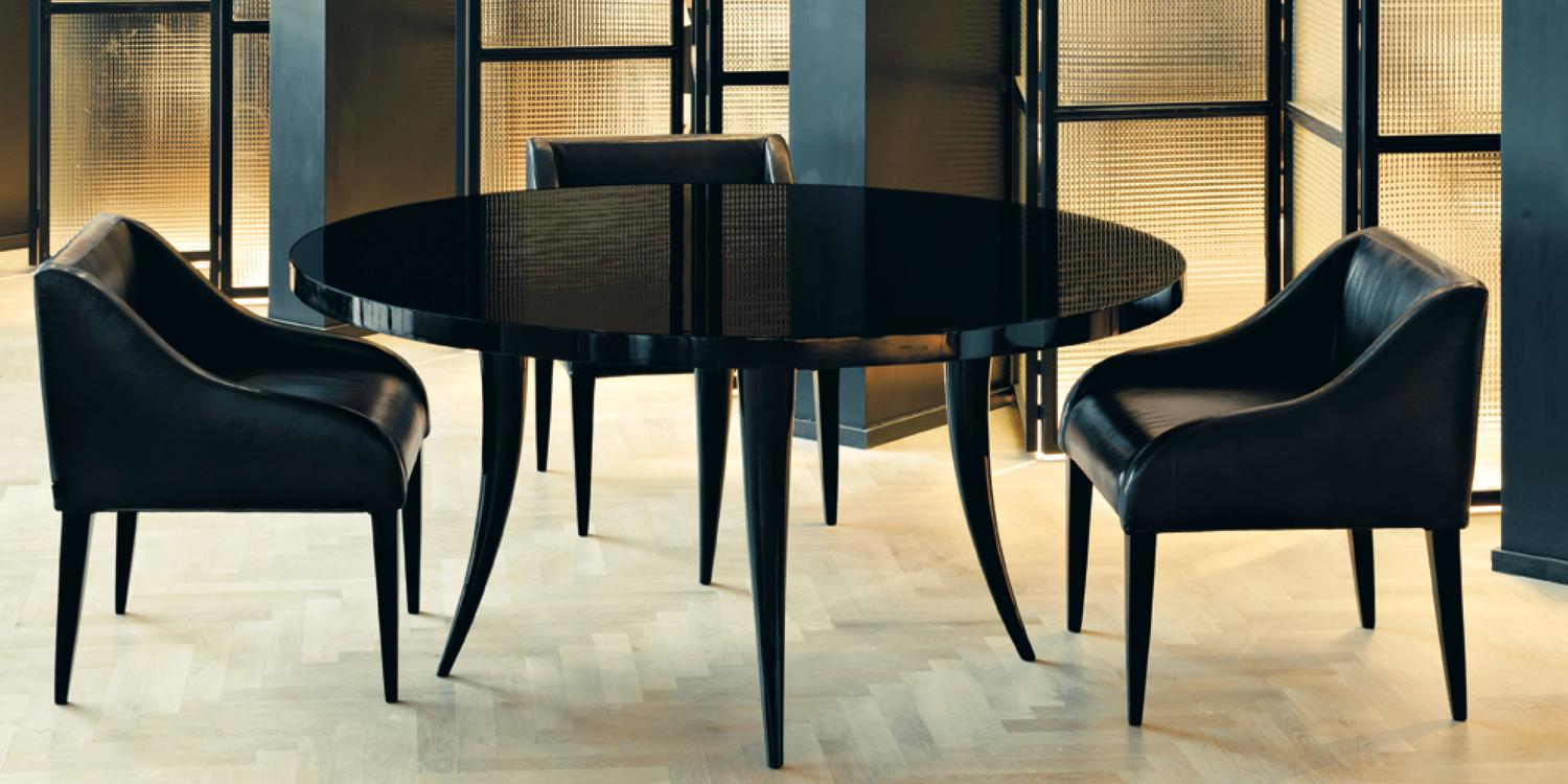 Italian Dom Edizioni Round Gloss Lacquered Dining Table For Sale At 1stdibs