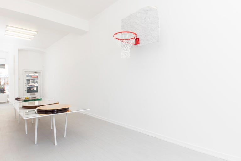 Spanish Basketball Pot and Backboard with Italian Marble, by Guillermo Santoma For Sale