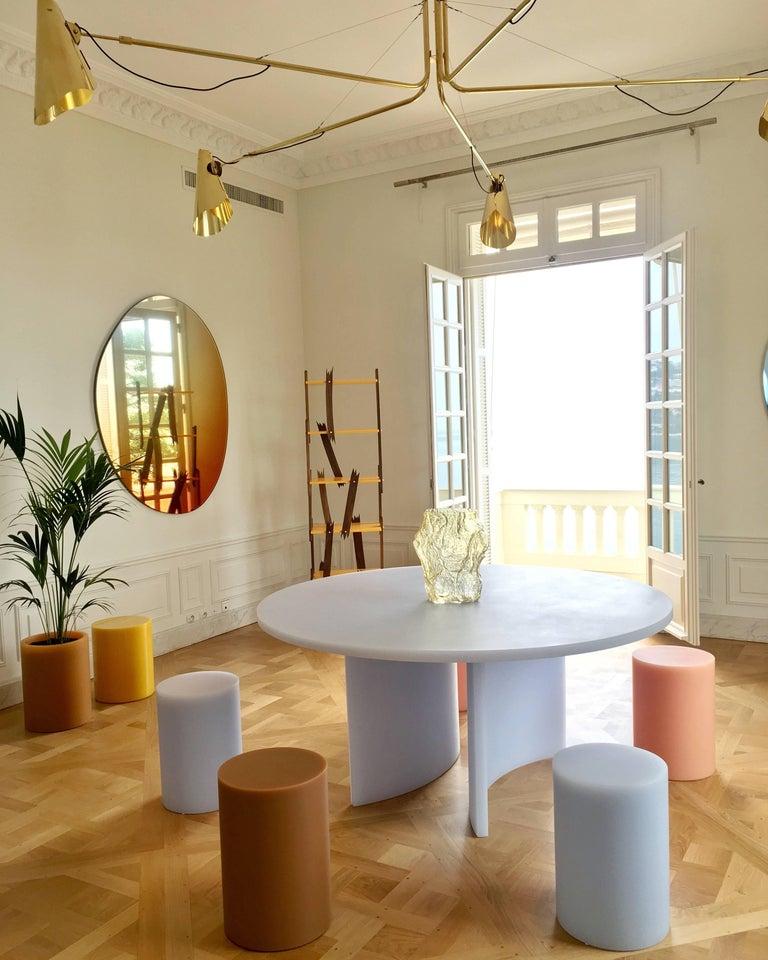 Cast SOAP Column Stool or Side Table by Sabine Marcelis, Ice-Lavender For Sale