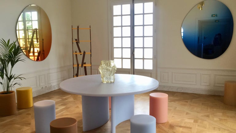 SOAP Column Stool or Side Table by Sabine Marcelis, Ice-Lavender In New Condition For Sale In Copenhagen, DK