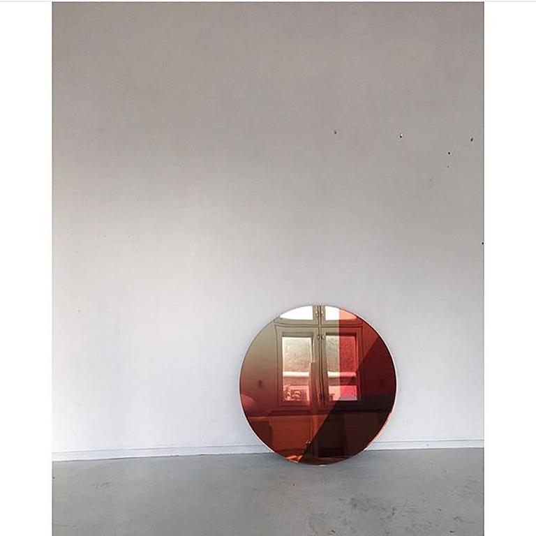 Modern Seeing Glass Big Round Mirror Large 122 Cm For