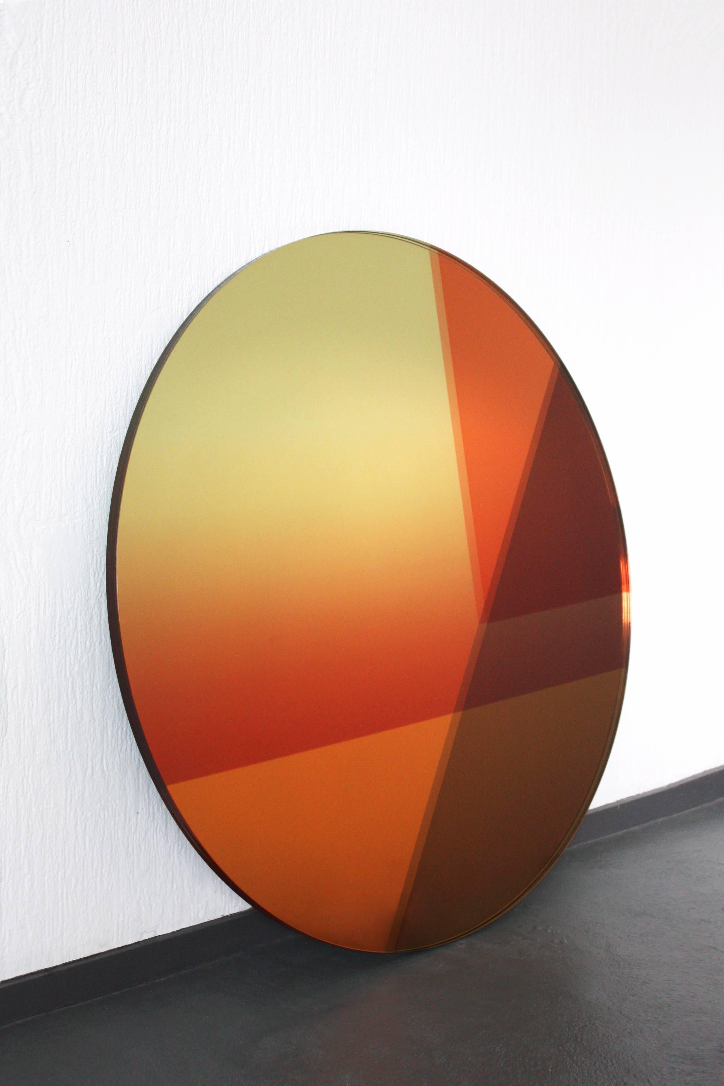 Seeing Glass Big Round Mirror, Small (77 cm) For Sale at 1stdibs